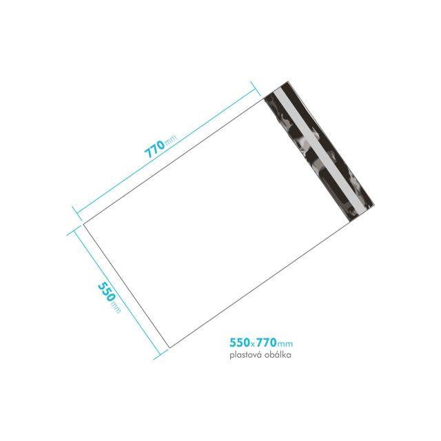 Plastová obálka 550x770 mm