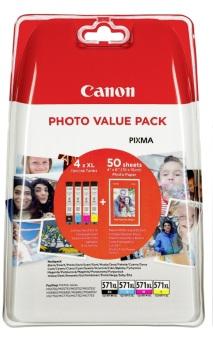 Sada originálních cartridge Canon CLI-571XL (0332C005) (Černá a barevné) + fotopapír