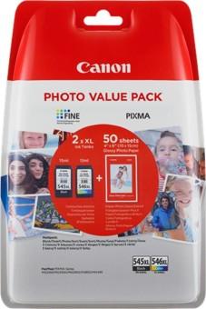 Sada originálních cartridge Canon PG-545XL+CL-546XL (Černá a barevná) + fotopapír