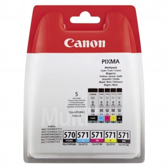 Sada originálních cartridge Canon PGI-570 a CLI-571BK/C/M/Y