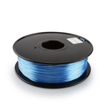 Tisková struna PLA pro 3D tiskárny, 1,75mm, 1kg, hedvábně - modrá