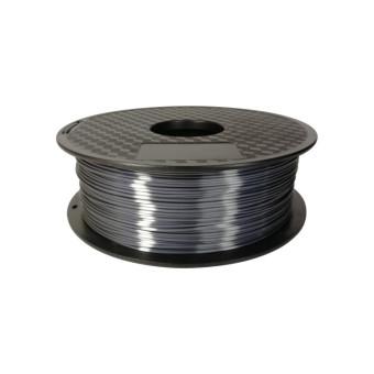 Tisková struna PLA pro 3D tiskárny, 1,75mm, 1kg, hedvábně - tmavě šedá