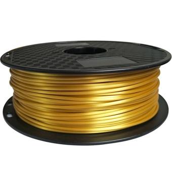 Tisková struna PLA pro 3D tiskárny, 1,75mm, 1kg, hedvábně - zlatá