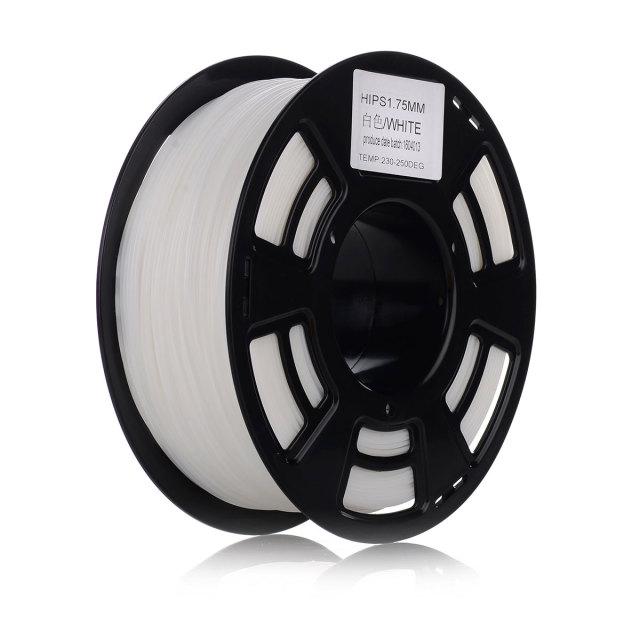 Tisková struna HIPS pro 3D tiskárny, 1,75mm, 1kg, bílá