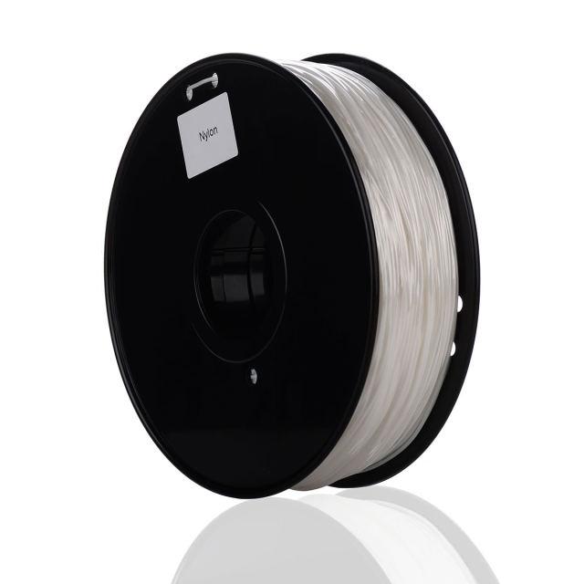 Tisková struna NYLON pro 3D tiskárny, 1,75mm, 1kg, průhledná
