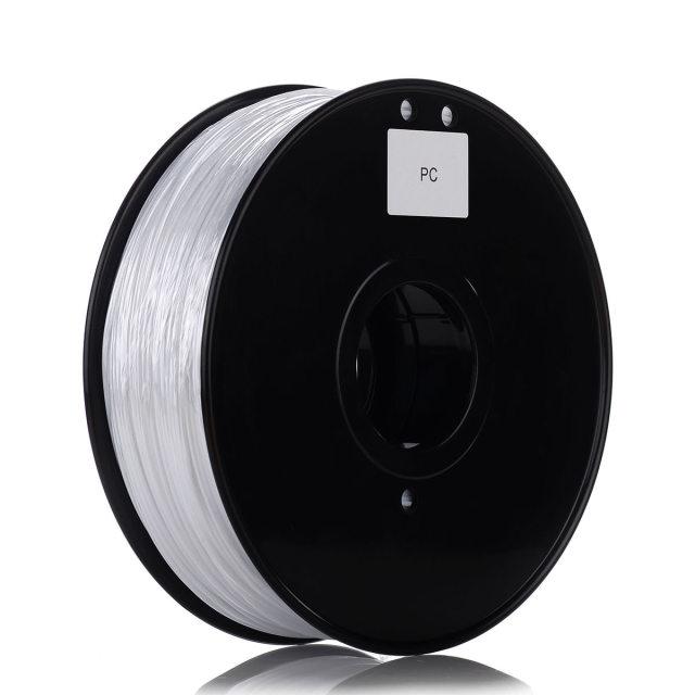 Tisková struna PC pro 3D tiskárny, 1,75mm, 1kg, průhledná