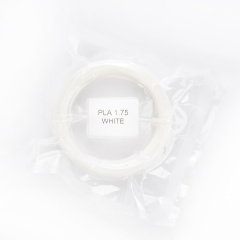 PLA pro 3D pera, 1,75mm, 5m, bílá