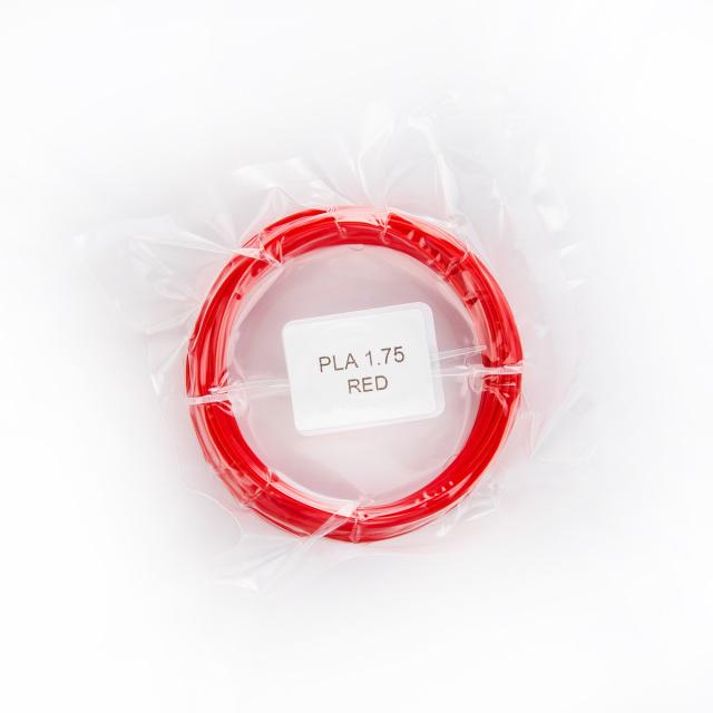 Tisková struna PLA pro 3D pera, 1,75mm, 5m, červená