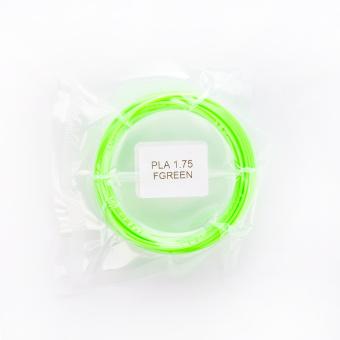 Tisková struna PLA pro 3D pera, 1,75mm, 5m, fluorescenční zelená
