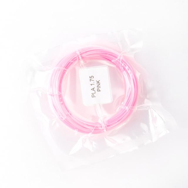 Tisková struna PLA pro 3D pera, 1,75mm, 5m, růžová