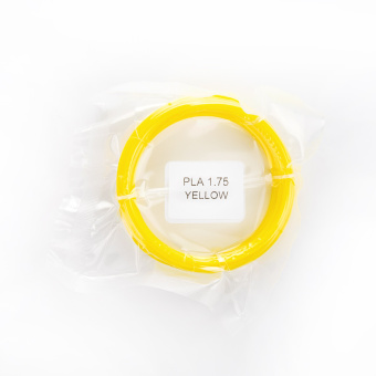 Tisková struna PLA pro 3D pera, 1,75mm, 5m, žlutá
