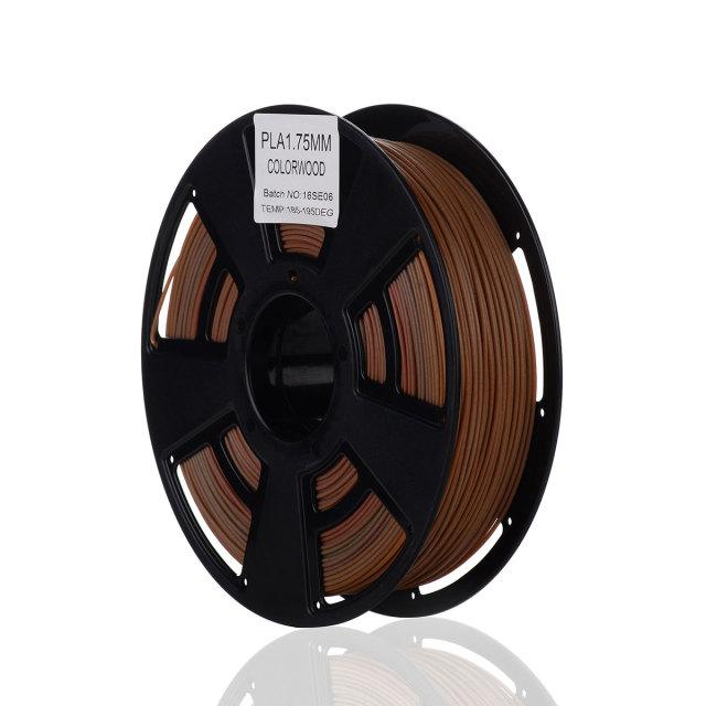 Tisková struna PLA pro 3D tiskárny, 1,75mm, 0,75kg, s příměsí barevného dřeva