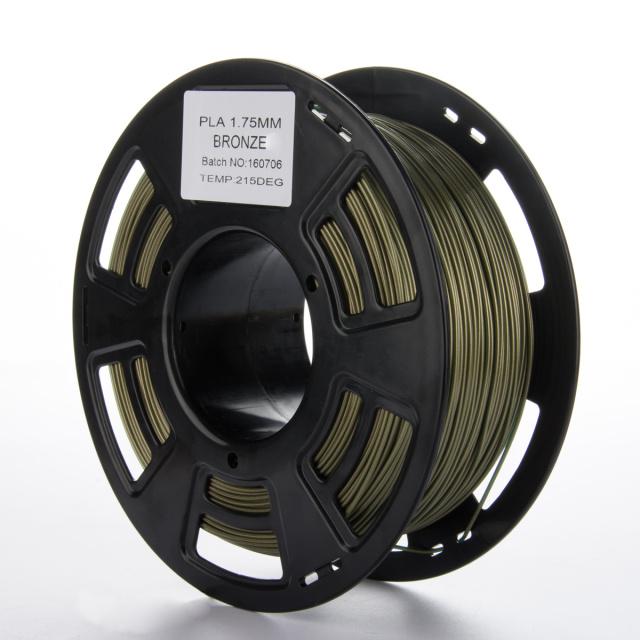Tisková struna PLA pro 3D tiskárny, 1,75mm, 1kg, s příměsí bronzu