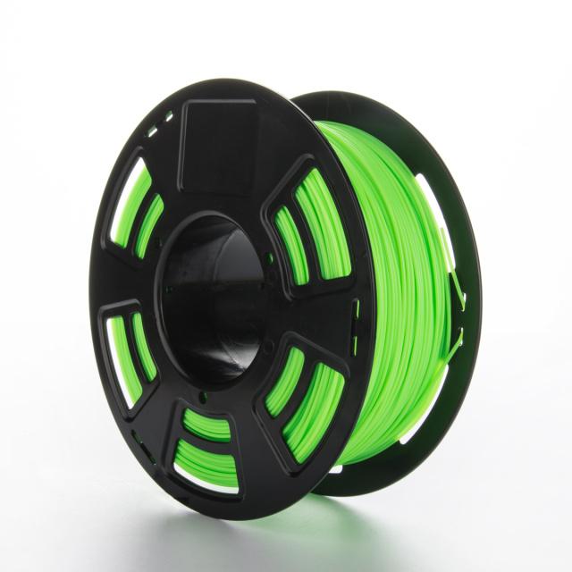 Tisková struna PLA pro 3D tiskárny, 1,75mm, 1kg, fluorescenční zelená