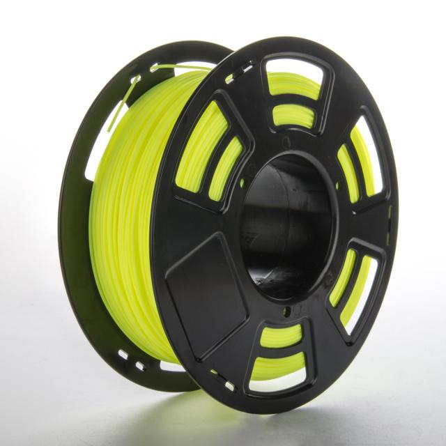 Tisková struna PLA pro 3D tiskárny, 1,75mm, 1kg, fluorescenční žlutá